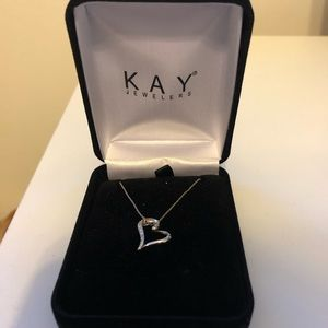 KAY jewelers silver heart necklace